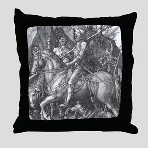 Albrecht Durer Knight Death and the D Throw Pillow