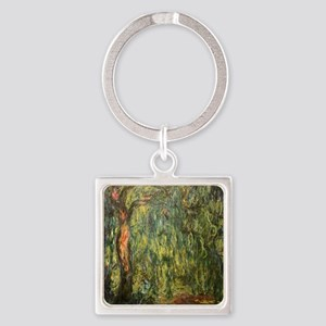 Monet Willow Square Keychain