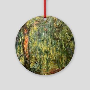 Monet Willow Round Ornament