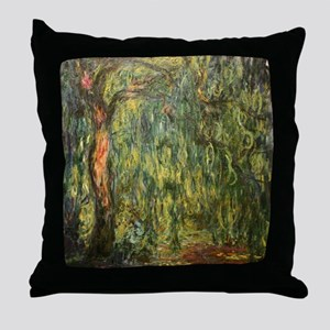 Monet Willow Throw Pillow