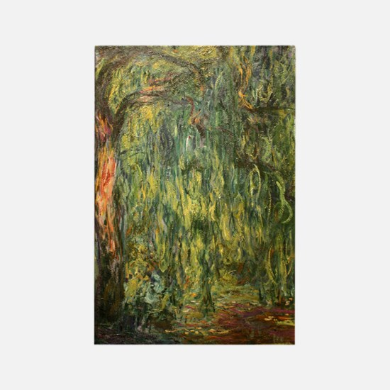 Monet Willow Rectangle Magnet