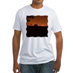Farm Sunset #1 Fitted T-Shirt