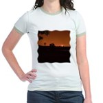Farm Sunset #1 Jr. Ringer T-Shirt