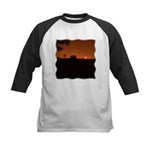 Farm Sunset #1 Kids Baseball Jersey