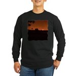 Farm Sunset #1 Long Sleeve Dark T-Shirt