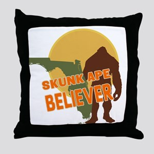 Skunk Ape Throw Pillow