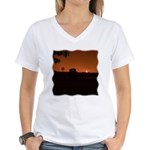 Farm Sunset #1 Women's V-Neck T-Shirt