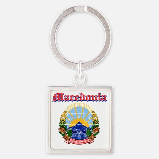 Macedonia designs Square Keychain
