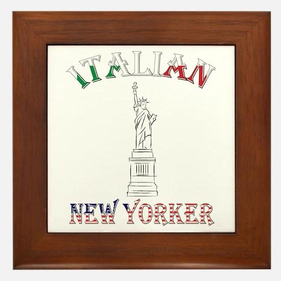 Italian New Yorker - Lib Framed Tile