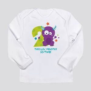 Monster 2nd Birthday Long Sleeve Infant T-Shirt