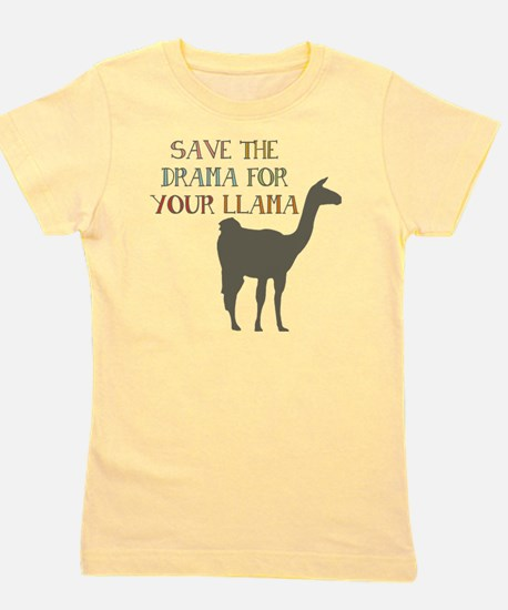 Save The Drama For Your Llama Girl's Tee