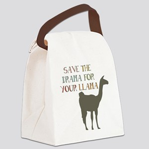 Save The Drama For Your Llama Canvas Lunch Bag