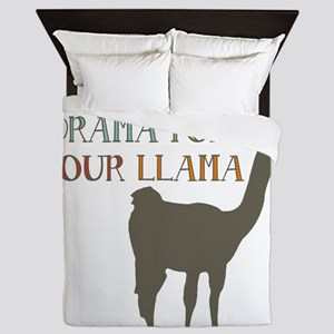 Save The Drama For Your Llama Queen Duvet