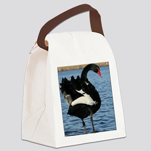 Moment with a Black Swan Canvas Lunch Bag