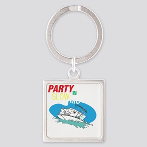 Out here in the open Square Keychain