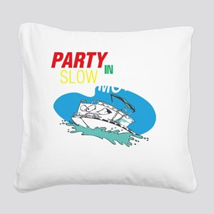 Out here in the open Square Canvas Pillow