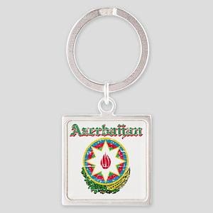 Azerbaijani Coat of Arms Square Keychain