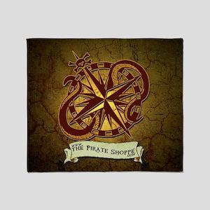 the pirate Shoppe logo background Throw Blanket