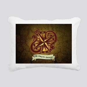 the pirate Shoppe logo b Rectangular Canvas Pillow