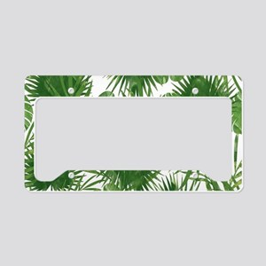 Tropical Leaves License Plate Holder