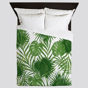 Tropical Leaves Queen Duvet