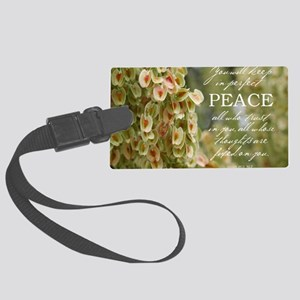 Perfect Peace Large Luggage Tag