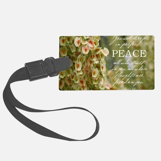 Perfect Peace Luggage Tag
