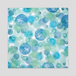 Blue Bubbles Queen Duvet