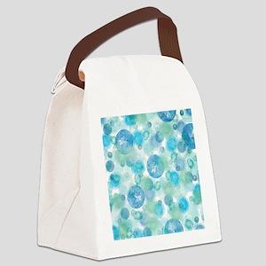Blue Bubbles Canvas Lunch Bag