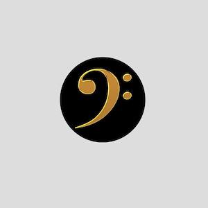 Gold Bass Clef Mini Button