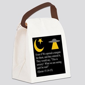 Quran 15:14-15 Canvas Lunch Bag