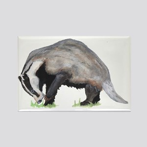 Burrowing Badger Rectangle Magnet