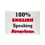 English Speaking American Rectangle Magnet