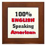 English Speaking American Framed Tile