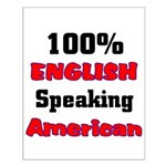 English Speaking American Small Poster