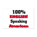English Speaking American  Mini Poster Print