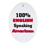 English Speaking American Oval Ornament
