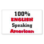English Speaking American Rectangle Sticker