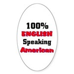 English Speaking American Oval Sticker