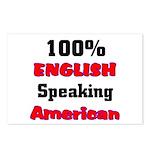 English Speaking American Postcards (Package of 8