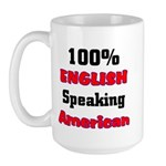 English Speaking American Large Mug