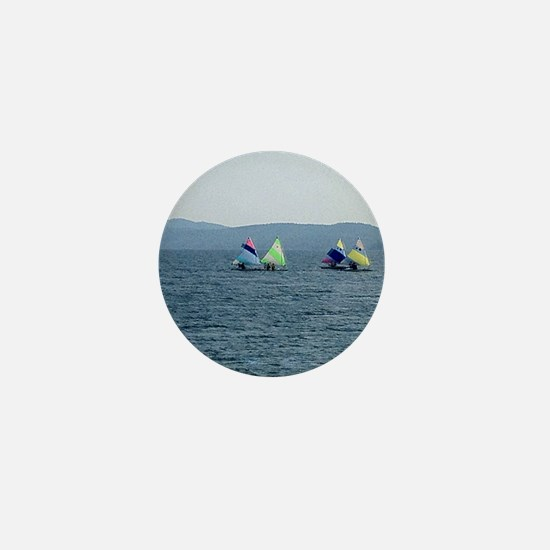 Sailing Race Mini Button