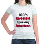 English Speaking American Jr. Ringer T-Shirt