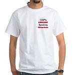 English Speaking American White T-Shirt