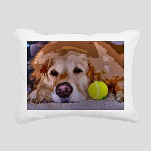 Golden Moment Rectangular Canvas Pillow