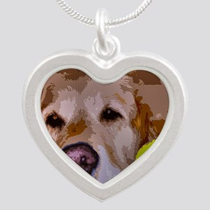 Golden Moment Silver Heart Necklace