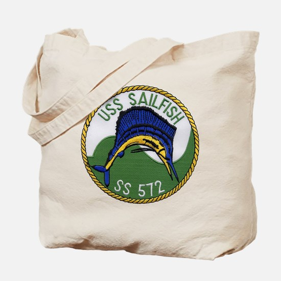 uss sailfish patch transparent Tote Bag