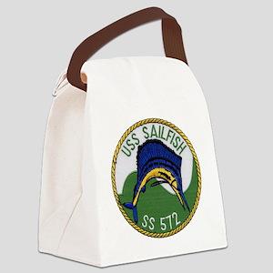 uss sailfish patch transparent Canvas Lunch Bag