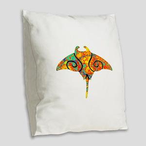 SPECTRUM RAY Burlap Throw Pillow