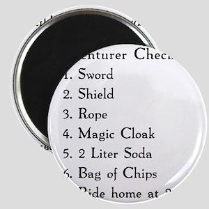 Adventurer Checklist (Black Letters) Magnet